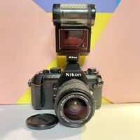 Nikon N2020 F501 Af Nr Mint Condition W/ Sigma Lens & Sb-20 Flash! Lomo, Student