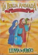 DVD - La Biblia Animada Para Ninos NEW Lluvia De Fuego FAST SHIPPING !