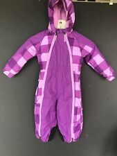 REI Toddler snow suit 18 Months Purple Winter Coat Pants Hooded Ski