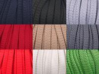5m Kordel Polyester 8mm flach Schnur Turnbeutel  Seil 9 Farben