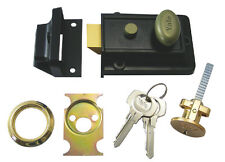 Yale 99Z Nightlatch Rim Door Lock Black Brass Old Style