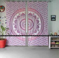 Indian Wall Hanging Cotton Mandala Twin Size Door Curtains Ethnic Window Curtain