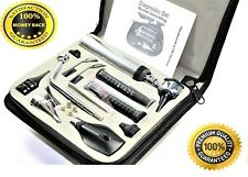 Ent Earnose Ampthroat Diagnosticotoscopeophthalmoscope Set Withzipper Case New