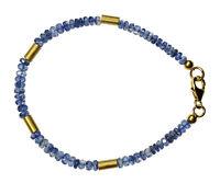 KYANIT Armband 925 Silber vergoldet Armkette D874