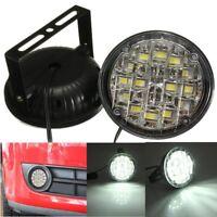 2x 18 LED Round Car DRL Driving Daytime Running Fog Light Day Work Lamp 12V