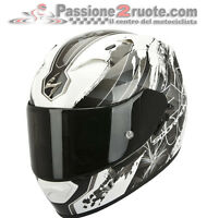 Casco Helmet Scorpion Exo 1200 Lilium bianco nero white black XS S M L XL
