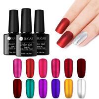 UR SUGAR 7.5ml Mirror Titanium Soak Off UV Gel Polish Red Purple Nail Art Gel