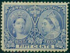 CANADA #60 50¢ ultra, og, hinged, VF, Scott $375.00