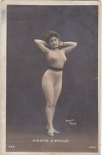 OLD POSTCARD WOMAN GLAMOUR LEOTARD RISQUE EROTIC NINETTE D'ARVILLE PARIS F4