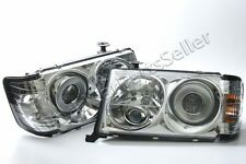 Crystal White Headlights Front Lamps LEFT+RIGHT Fits Mercedes W124 1985-1993