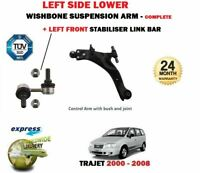 FOR HYUNDAI TRAJET 2000-2008 FRONT LEFT WISHBONE SUSPENSION CONTROL ARM + LINK