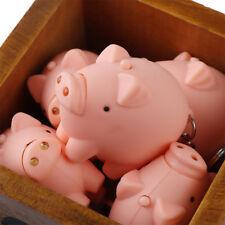Mini Cute Pig Shape Led Flashlight Torch Sound Key Chain Bag Accessories