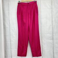 Ralph Lauren Polo Sport Women's Sz 10 Pants Pink Straight Leg Trouser Slacks #YY