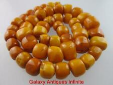 Large Antique Natural Butterscotch Amber Beads Necklace 50 grams