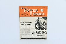 British Power Farmer magazine November 1947 issue tractor brochure book