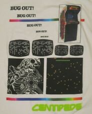 "Ripple Junction Atari Centipede White ""Bug Out"" Video Game T-Shirt Men Xxl"