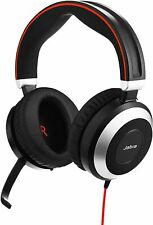 Jabra Evolve 80 Professional Stereo Noise Cancelling Wired Headset UC w/ USB Hub