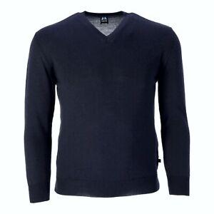 Blauer Peter - Merino-Pullover - Uni - V-Ausschnitt - Langarm - 10 Farben