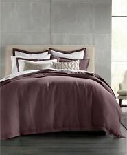 Hotel Collection 102 Thread Count 100 Linen King Duvet Cover Wine