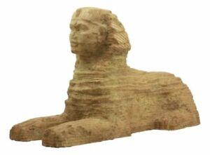 """Large Egyptian Monolithic Wonder Guardian Great Sphinx Of Giza Statue 15""""L"""
