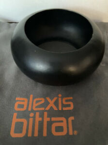 alexis bittar Liquid Metal Matte Black Bangle