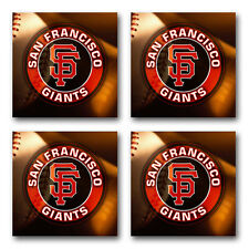 San Francisco Giants Baseball Rubber Square Coaster set (4 pack) SRC2023