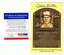 STEVE CARLTON AUTOGRAPH GOLD HALL OF FAME POST CARD