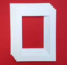 11 X 9 Inch White Mounts to fit 9 x 7 Inch Photo & Picture - 5 PACK