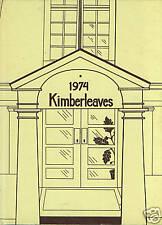 Montclair Kimberley Academy Year Book Kimberleaves 1974