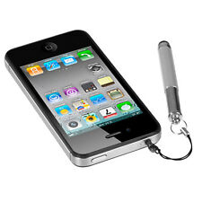 RETRACTABLE STYLUS PEN W/ 3.5mm DUST CAP iPHONE/iPAD/iPOD/iPOD TOUCH SILVER