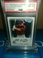 2011 Bowman Prospects #BP99 Paul Goldschmidt PSA8 NM-MT ~FACSIMILE AUTO ROOKIE🔥
