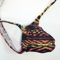 K403 P Sexy Mens String Thong Grape Smugglers Contoured Pouch Colored Leopard