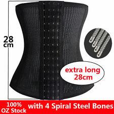 Body Steel Boned Waist Tummy Cincher Shaper Corset 28CM Trainer Bustier Slim