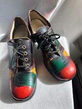 Swinger Patchwork Vintage 60's Lace Up Womens Sz 8 Shoes