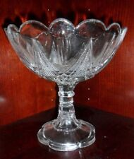 """EAPG Pressed Glass CORAL GABLES 7"""" Open Compote 1890s -Maker Unknown (bas)"""
