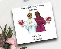Thank you for being my Bridesmaid/ Maid of Honour Handmade & Personalised Card