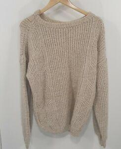 Unbranded Woolen Cable Knit Jumper Sz L