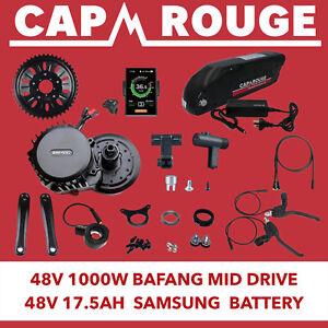 Bafang 48 Volt 1000W BBSHD Conversion Kit & 48V 17.5AH Samsung Battery