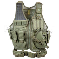 Valken Crossdraw Paintball Airsoft Vest Tactical Adult Olive Protection Padded