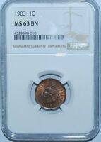 1903 NGC MS63BN Indian Cent BU