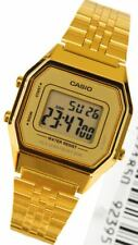 Casio Ladies Mid Size Gold Tone Digital Retro Multi-Function Watch LA680WGA9DF