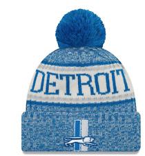d381f37c3d9 Youth Detroit Lions New Era 2017 NFL Sideline Historic Winter Knit POM Cap  Hat