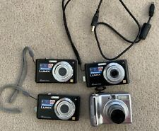 Lot of 3 Panasonic Lumix DMC-FS7 10 MP and Canon PowerShot A550