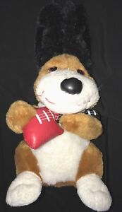 brown GUITAR PLAYING STUFFED DOG VALENTINE GIFT DO YOU LOVE ME? sings dances WOR