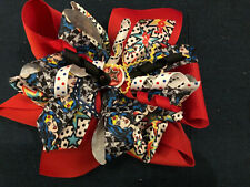 New 6� Custom Boutique Stacked Hairbow Dc Comics Wonder Woman Superhero Party