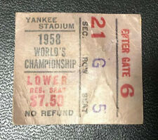 1958 NFL Championship Game Ticket Stub Baltimore Colts Vs. New York Giants