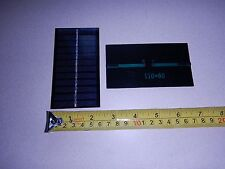 6V x 140 ma. Mini solar panel epoxy encapsulated virtually indestructible