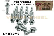 20 Pc (22mm shank) Zinc PCD Wobble Alloy Wheel Lug Bolts 12x1.25 10.9 Grade U.S