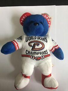 Arizona Diamondbacks 2001 World Series Champions Team Red White Blue Bear Beanie