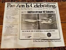 Original Pre-Press Print Ad Proof for PAN AM AIRLINES Advertising Spread poster